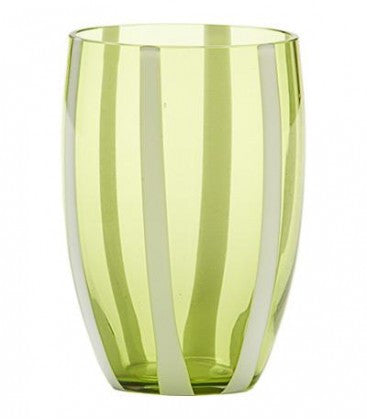 Gessato Tumbler S/2 | Apple Green