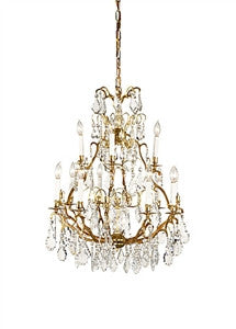 Frederick Cooper |  Crystal  and Gold Chandelier - GDH | The decorators department Store