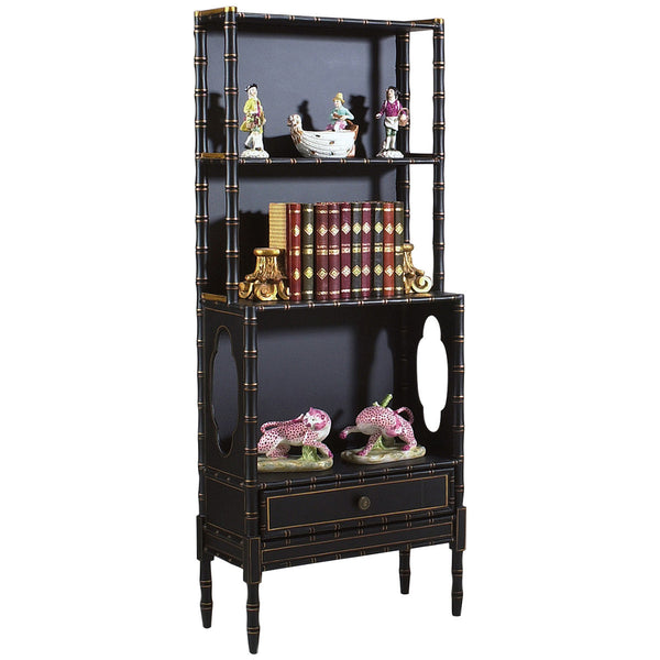Chelsea House Bamboo Gold Painted Bookcase - GDH | The decorators department Store