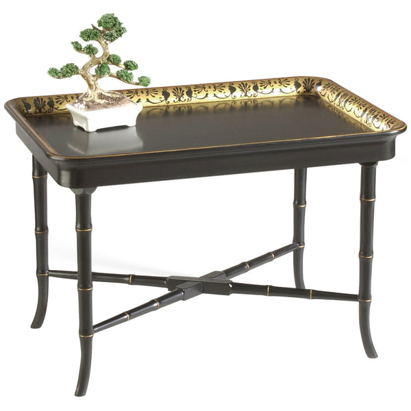 Chelsea House Brentford Black and Gold Tray Table - GDH | The decorators department Store