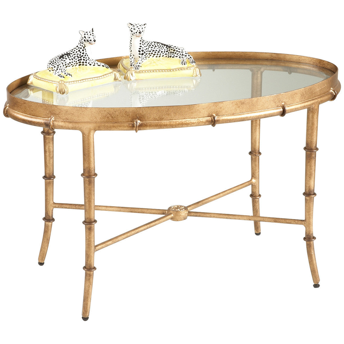 Antique Gold Bamboo Cocktail Table   GDH   The Decorators Department Store