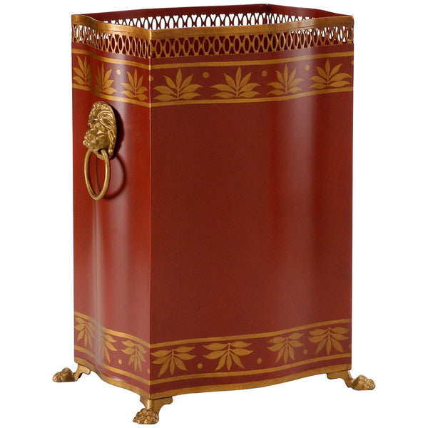 Carlton Wastebasket | Red