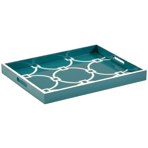 Chelsea House Wood Tray | Teal