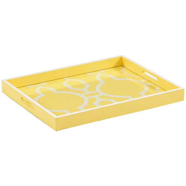 Chelsea House Wood Tray | Yellow