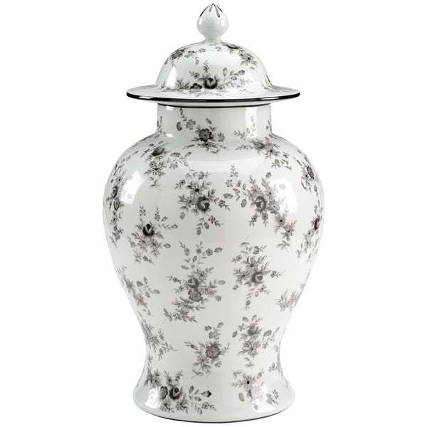 Chelsea House Cabbage Rose Porcelain Urn - GDH | The decorators department Store