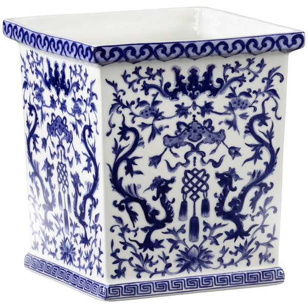 Chelsea House Tassel Porcelain Cachepot - GDH | The decorators department Store