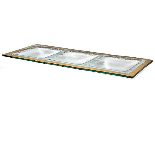 Annieglass Roman Antique Three-section Tray - GDH | The decorators department Store