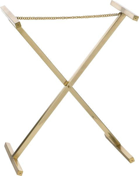 Contemporary Tray Stand | Brass