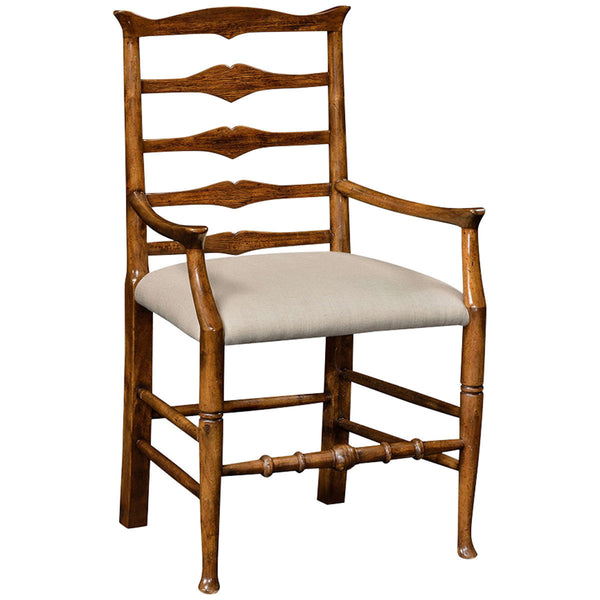 Country Walnut Ladder Back Armchair - GDH | The decorators department Store - 1