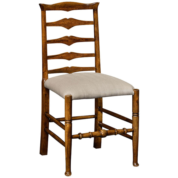 Country Walnut Ladder Back Side Chair - GDH | The decorators department Store - 1