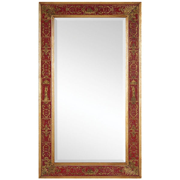 Buckingham Rectangular Mirror | Red - GDH | The decorators department Store