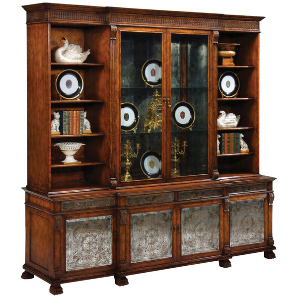 Jonathan Charles Windsor Large Glomis Breakfront Bookcase - GDH | The decorators department Store