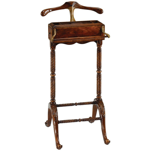 Mahogany Valet Stand with Stud Box - GDH | The decorators department Store