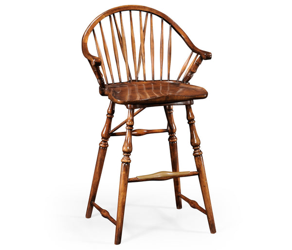 Windsor Style Barstool with arms - GDH | The decorators department Store