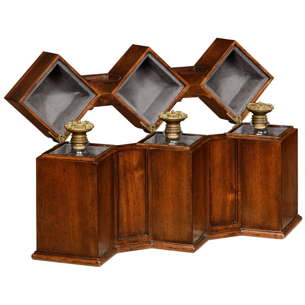 Triple Decanter Set In Conjoined Square Cases - GDH | The decorators department Store - 1