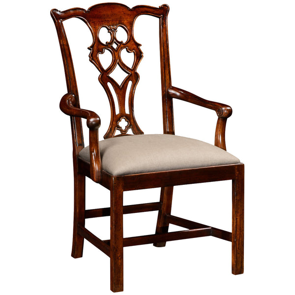 Chippendale Style Classic Mahogany Arm Chair - GDH | The decorators department Store - 1