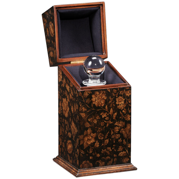 Single Glass Decanter Black Chinoiserie Case - GDH | The decorators department Store - 1