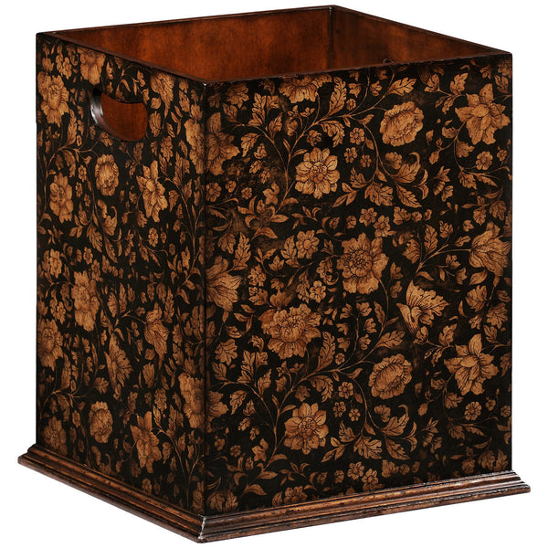 Chinoiserie Waste Bin | Black - GDH | The decorators department Store