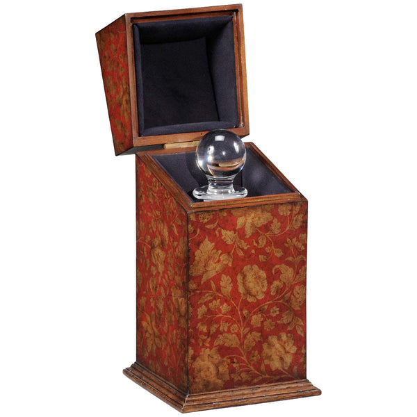 Single Glass Decanter Red Chinoiserie Case - GDH | The decorators department Store - 1