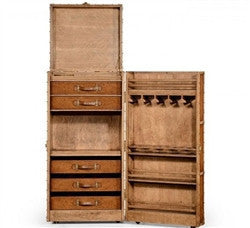 Travel trunk style wine and cocktail cabinet - GDH | The decorators department Store