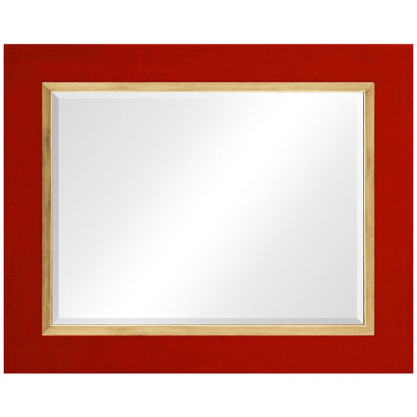 Homespun Lacquer Mirror | Red - GDH | The decorators department Store - 1