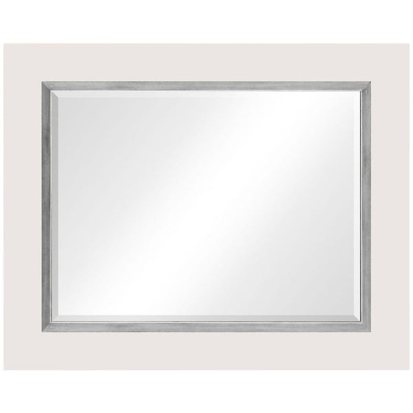 Homespun Lacquer Mirror | White - GDH | The decorators department Store