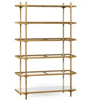 Patinated  six tier etagere - GDH | The decorators department Store