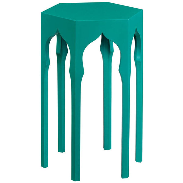 Hexagon Lamp Table | Aruba Blue - GDH | The decorators department Store