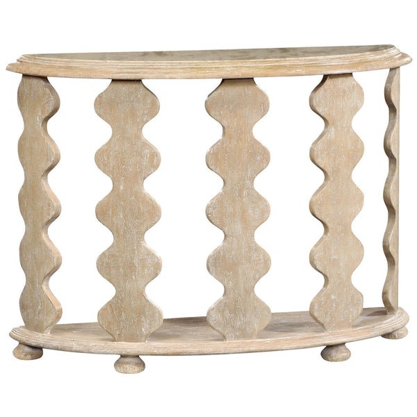Demilune Console Table in Limed Acacia - GDH | The decorators department Store - 1