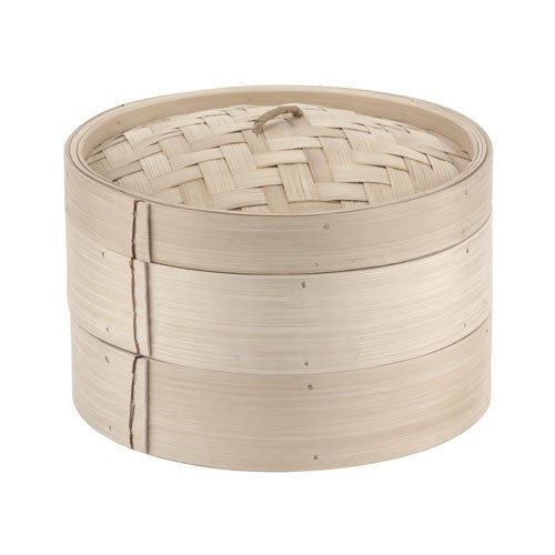 7 7/8 Bamboo Steamer Set (2+1) - GDH | The decorators department Store