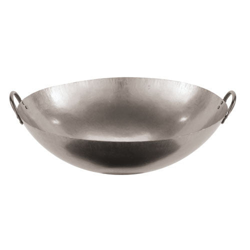 18 Inch Dual Handled Steel Chinese Wok - GDH | The decorators department Store