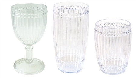 Milano Outdoor Drinkware - Clear - Set of 6 - CITY LIFE CATALOG - 1