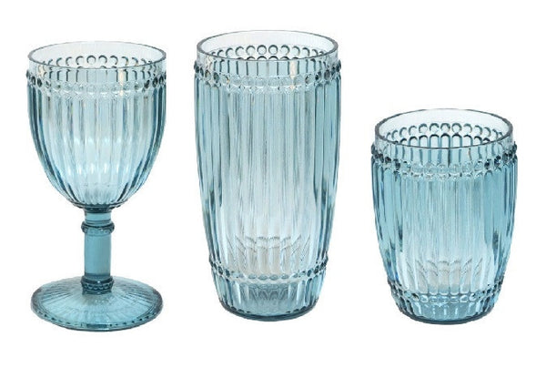 Milano Outdoor Drinkware - Teal - Set of 6 - CITY LIFE CATALOG - 1