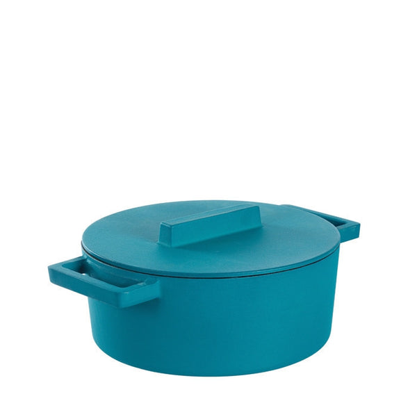 Terra Cotto Cast Iron Casserole Pot with Lid | Anise - GDH | The decorators department Store