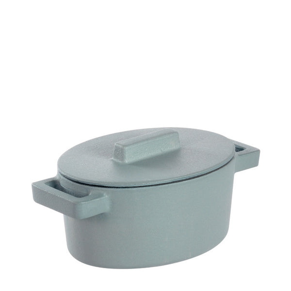 Terra Cotto Cast Iron Oval Casserole with Lid | Ginger - GDH | The decorators department Store - 1