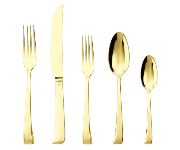 Sambonet Imagine Flatware 5 Piece Place Setting | Gold - GDH | The decorators department Store