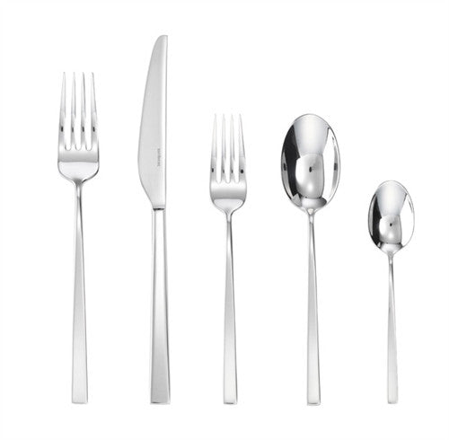 Sambonet Linea Q Silverplate 5 Piece Place Setting - GDH | The decorators department Store