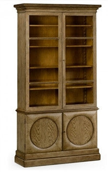 Elgin Bookcase in Washed Oak Finish by William Yeoward - GDH | The decorators department Store
