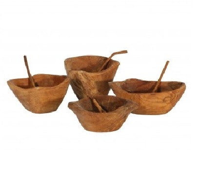 Mini Bowl with Spoon, Set Of 4 - GDH | The decorators department Store