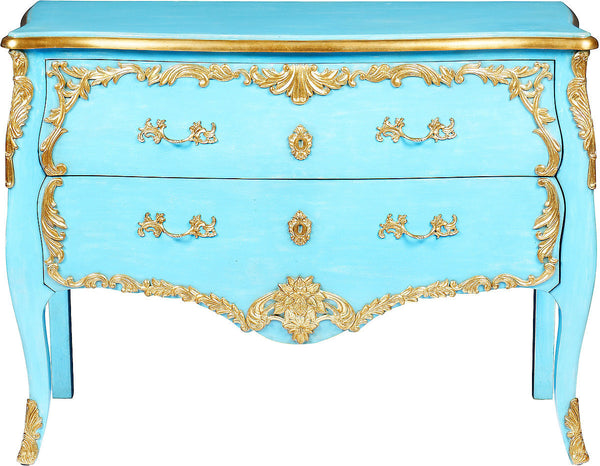 Melea Markell Louis XVI Style Commode | Turquoise