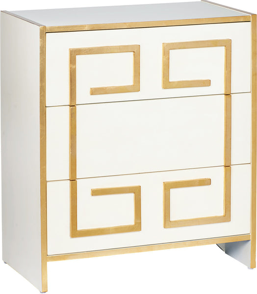 Melea Markell White Bedside Commode