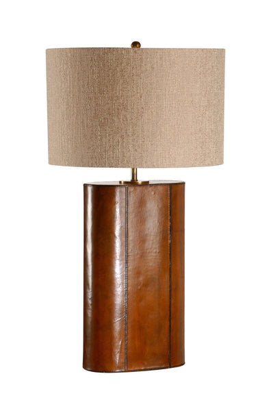 STITCHED LEATHER OVAL LAMP