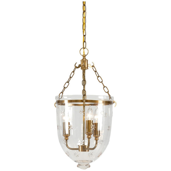 Brass with Patina Antique Glass Pendant - GDH | The decorators department Store