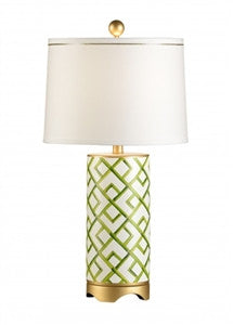Bamboo Squares Lamp | Green - GDH | The decorators department Store