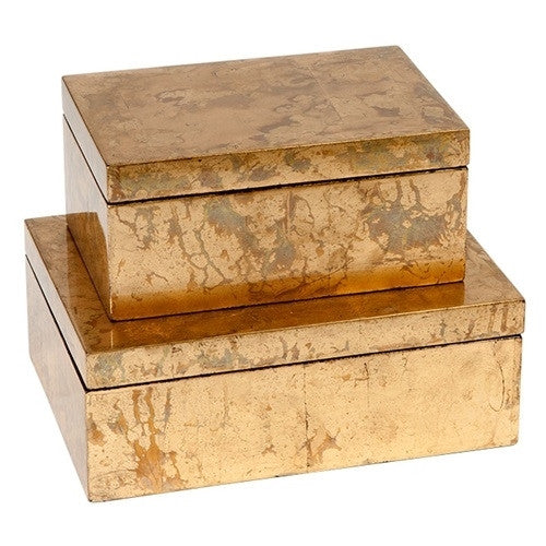 Gold Leaf Boxes - GDH | The decorators department Store