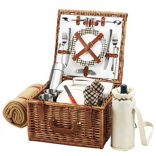 Cheshire Basket for 2 w/coffee set & blanket - GDH | The decorators department Store