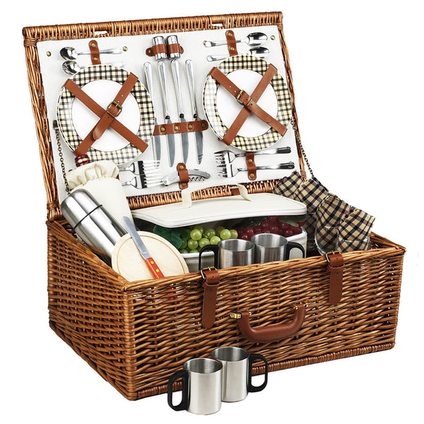 Dorset Basket for 4 w/coffee service - GDH | The decorators department Store - 1