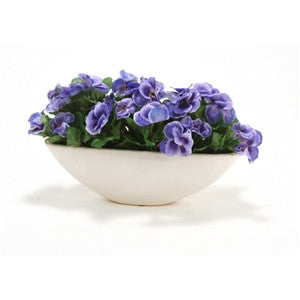 Silk Blue Pansies - GDH | The decorators department Store