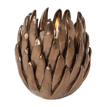 Chrysanthemum T-Lite Holder-Matte Bronze - GDH | The decorators department Store