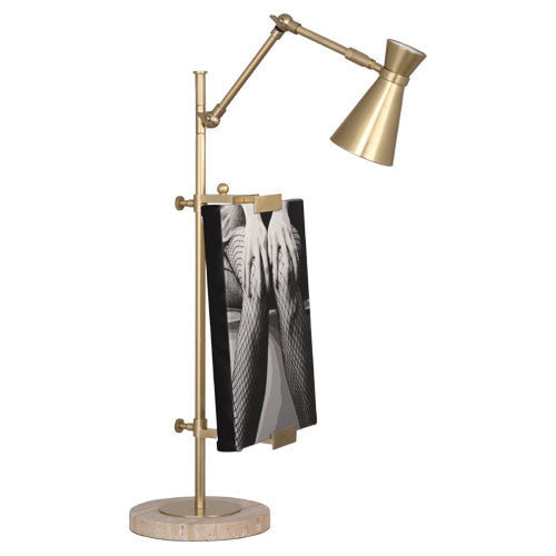 Jonathan Adler Bristol Table Lamp with Frame  Brass